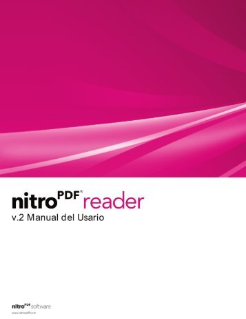 Nitro Reader 2 Manual del Usario