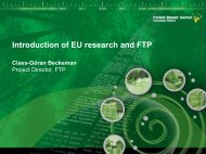 Introduction of EU research and FTP - IMT