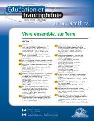 Vivre ensemble, sur Terre - Réseau francophone international de ...
