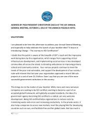 address by psoj president christopher zacca at the jsif annual ...