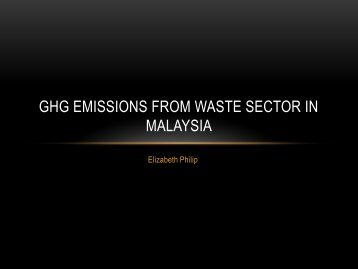 GHG emissions from Waste sector in Malaysia [PDF: 431KB]