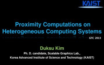 Proximity Computation on Heterogeneous Computing Systems ...