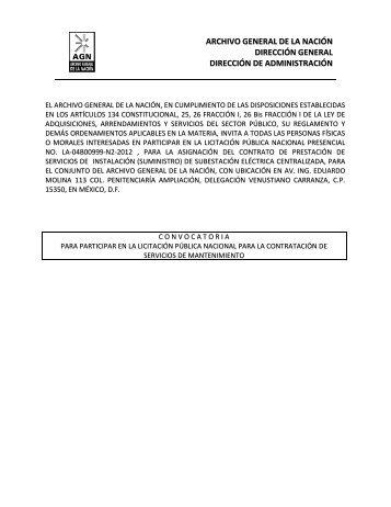 LA-04B00999-N2-2012 Instalación de Subestación Eléctrica ...