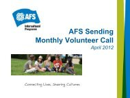 Monthly Vol Call, Apr 12th, 2012, Presentation - AFS Wiki