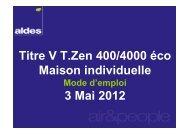 Titre V T.Zen 400/4000 éco Maison individuelle 3 Mai 2012 - Aldes