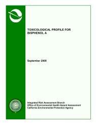 Toxicological Profile for Bisphenol A - California Ocean Protection ...