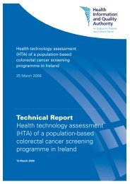 Technical Report Health technology assessment (HTA) of a ... - hiqa.ie