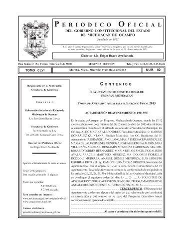 Programa Operativo Anual 2013 - transparenciauruapan.gob.mx