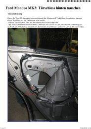 Ford Mondeo MK3: Türschloss hinten tauschen - Leo Eibler ...