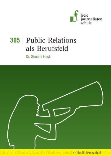 Public Relations als Berufsfeld - Freie Journalistenschule