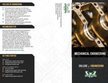 Mechanical engineering - College of Engineering