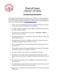 Alarm Registration Instructions and Form - Lenox