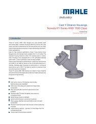 Data sheet ANSI 1500 - MAHLE Industry - Filtration