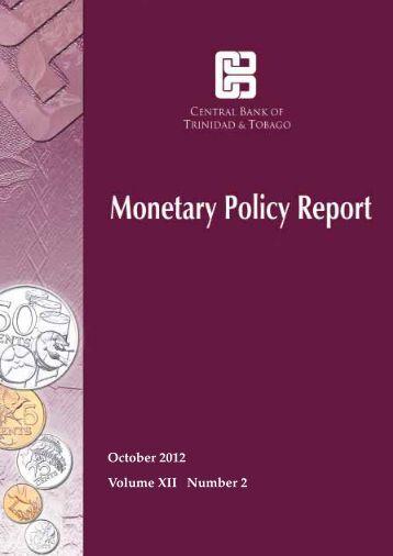 October 2012 Report - Central Bank of Trinidad and Tobago