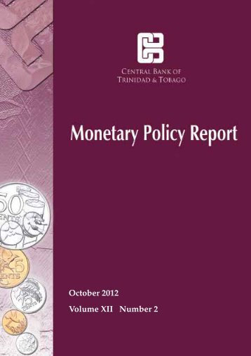 October 2012 Report - Central Bank of Trinidad and Tobago