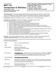 MAT 114 Introduction to Statistics - Academic Computer Center ...
