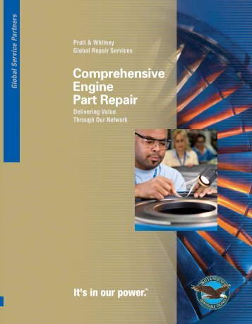Comprehensive Engine Part Repair - Pratt & Whitney