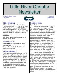 Little River Chapter Newsletter - Little River Chapter of Trout Unlimited