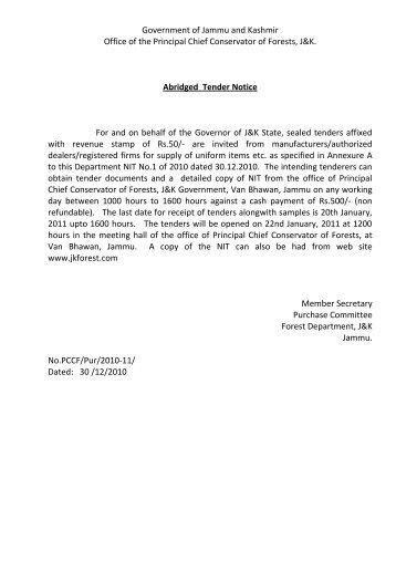 Government of Jammu & Kashmir - the official website of j&k forest ...