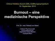 eine medizinische Perspektive / The Burnout Syndrome