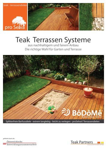 TEAK-Terrassensysteme - Bodome