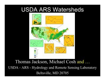 USDA ARS Watersheds - SMAP
