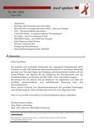 med update 08_10.pdf - Aids-Hilfen Österreichs