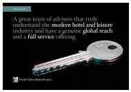 A great team of advisers that truly understand the modern hotel and ...