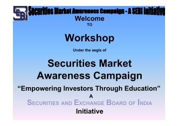 Presentation - SEBI Investor Awareness Website - Securities and ...