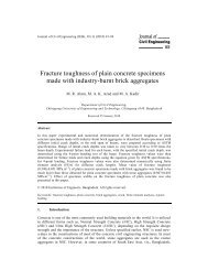 Fracture toughness of plain concrete specimens made with industry ...
