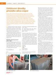 Zatěžovací zkoušky přesného zdiva Liapor