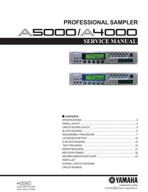 A5000/A4000 * REF NO  PAR