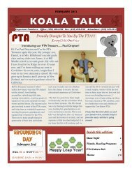 Koala Talk: February 2012 - Cowlishaw Elementary School