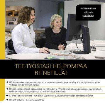 Tee TyösTäsi helpompaa RT NeTillä! - Rakennustieto Oy