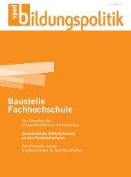 Baustelle Fachhochschule - vpod-bildungspolitik