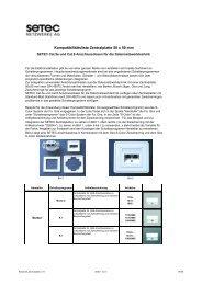 Kompatibilitätsliste Zentralplatte 50 x 50 mm