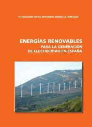 Energías renovables para la generación de electricidad en España