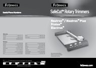 SafeCut™ Rotary Trimmers - Fellowes