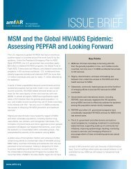 Issue Brief: MSM and the Global HIV/AIDS Epidemic - amfAR