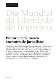 Precariedade marca encontro de jornalistas - Clube de Jornalistas