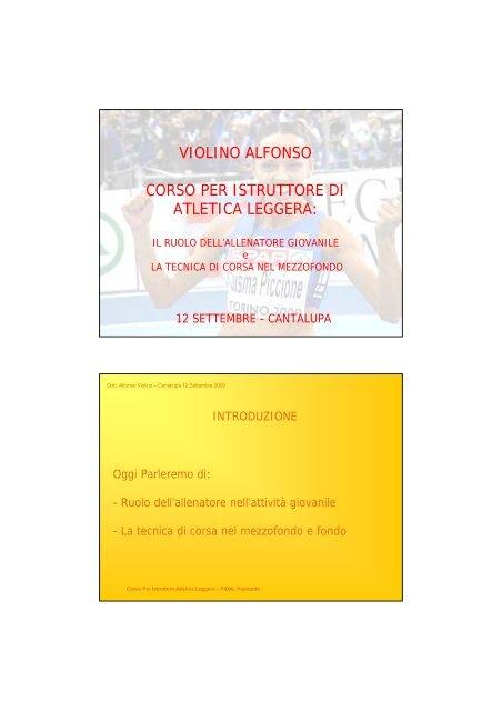 Il ruolo del tecnico - Fidal Piemonte