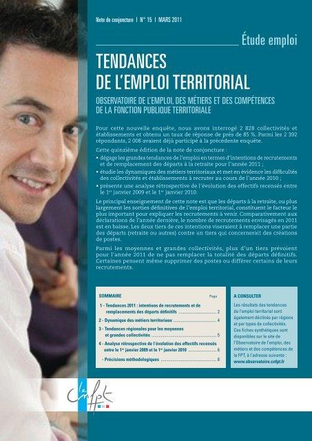 TENDANCES DE L'EMPLOI TERRITORIAL - Emploipublic.fr