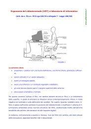 Ergonomia del videoterminale (VDT) e laboratorio di ... - Gilda Venezia