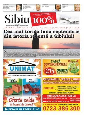 Cea mai toridă lună septembrie din istoria recentă a ... - Sibiu 100