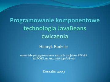 JavaBeans.pdf - kik - Koszalin