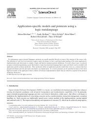 Application-specific models and pointcuts using a logic ... - RELEASeD