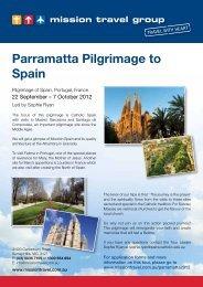 Parramatta Pilgrimage to Spain - Mission Travel