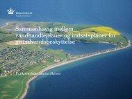 Sammenhæng mellem vandhandleplaner og indsatsplaner for ...