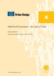 Multi-level Governance – the Case of Umeå - DiVA