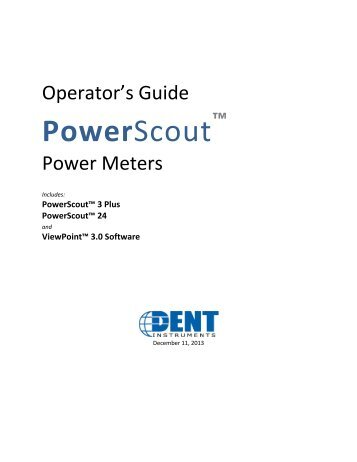 PowerScout/ViewPoint Manual PDF - DENT Instruments